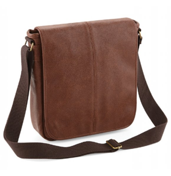 LE-876S  Leather-Look Messenger Bag Image 1of 3
